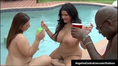 BBWs Angelina Castro & Lexxxi Lockhart Pounded By Black Cock
