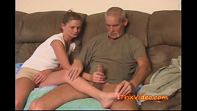 Daddy fucks Daughter while mom's at work