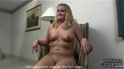 alyssa nervous countryside female doing very first time video