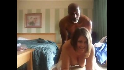 Cuckolding wife nails ebony dude & Films it for hubby