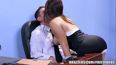 Brazzers - Office stocking  threesome