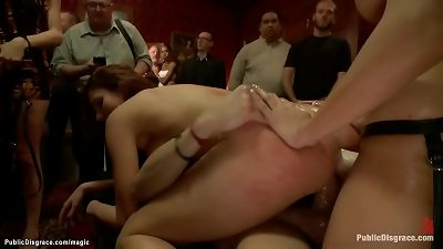 super-steamy ass slut double penetration ffm romped in public
