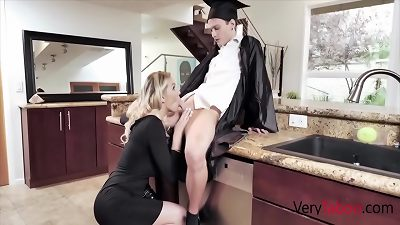 blonde mommy Gives son His Graduation gift- Kenzie Taylor