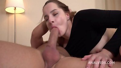 Mr. Anderson's ass-fuck Casting, Alexa Crow Welcome to porn with pouch Deep Anal, Gapes and jism in gullet GL300